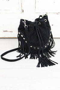 Nevada Black Bucket Bag