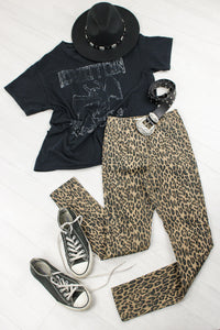 Walk This Way Leopard Skinnies