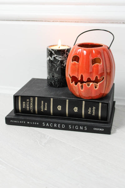 Ceramic Pumpkin Candle Lantern - little-lies-uk