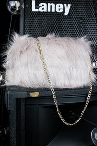 Dream On Blush Faux Fur Bag