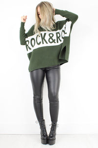 Khaki Rock & Roll Jumper