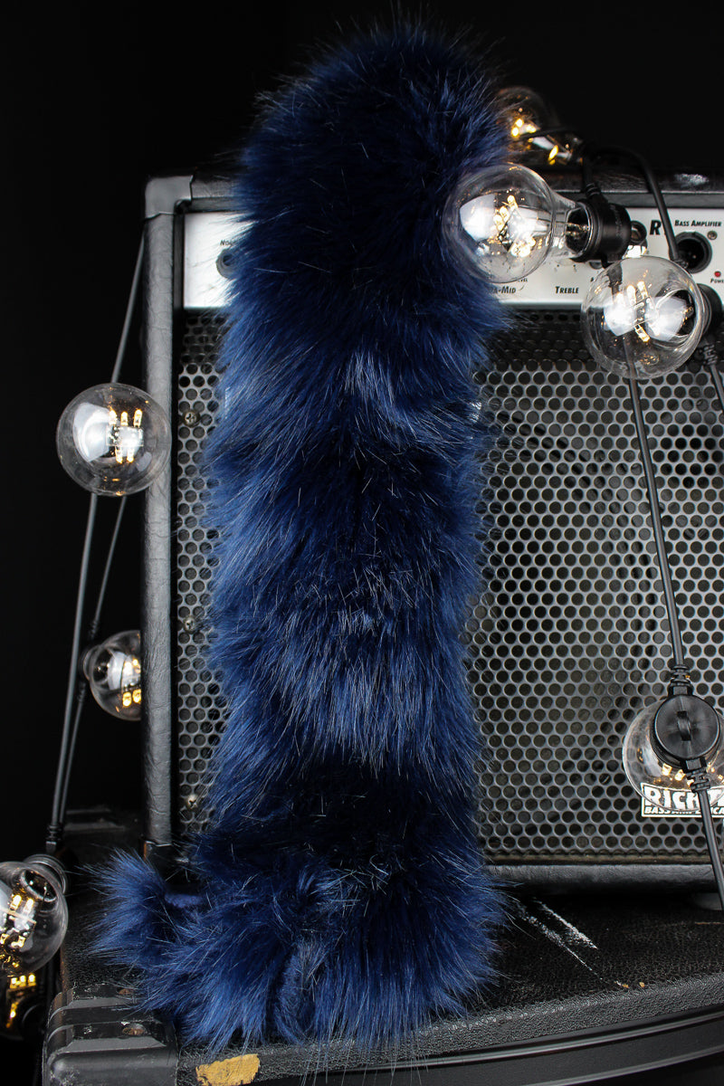 Midnight Blue Faux Fur Scarf