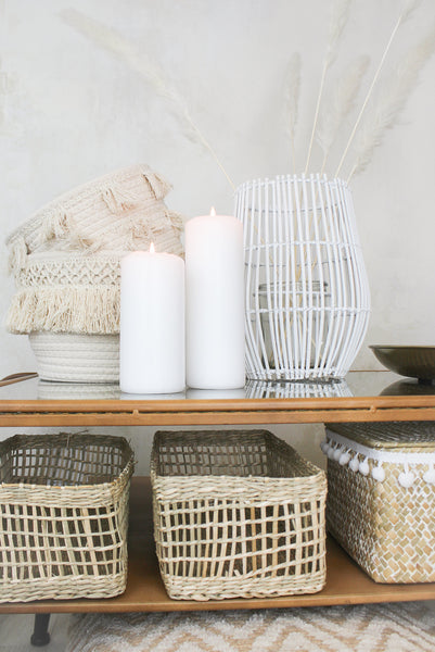Natural Tassel Storage Basket