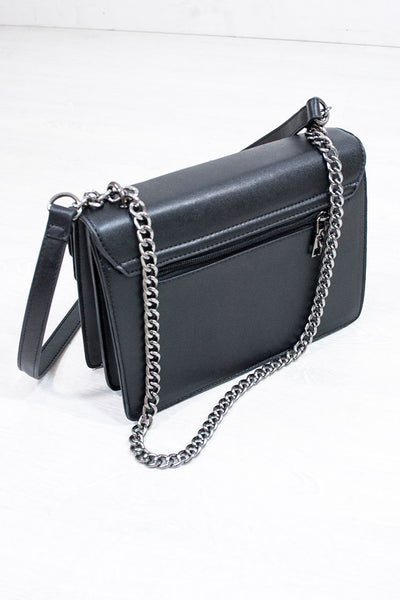 Dragon Studded Box Bag with Chain - little-lies-uk