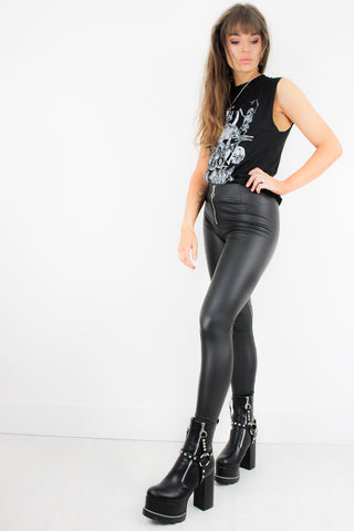 Paint It Black Leather Skinnies
