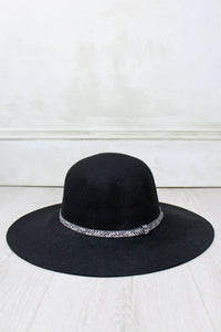Black Floppy Fedora