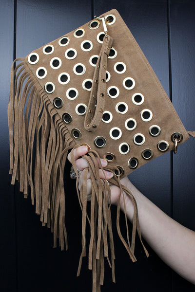 We're Gonna Groove Fringed Clutch