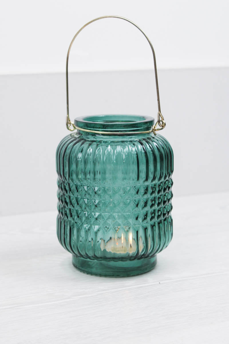 Emerald Glass Mini Lantern - little-lies-uk