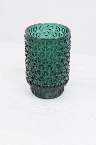 Emerald Glass Jar - little-lies-uk