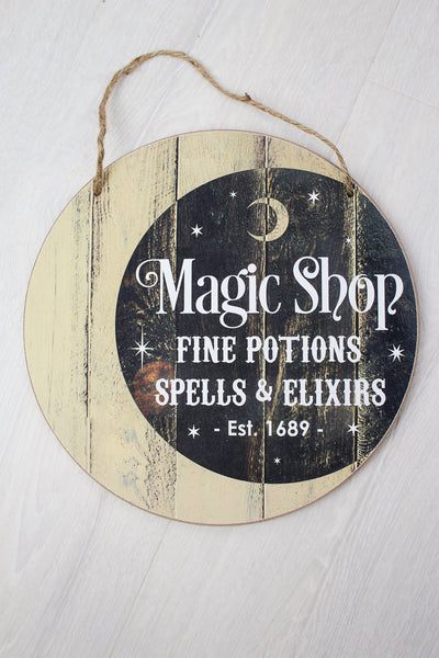 Magic Shop Wooden Sign