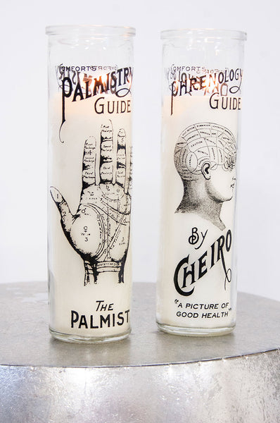 Palmistry // Phrenology Tall Candle - little-lies-uk