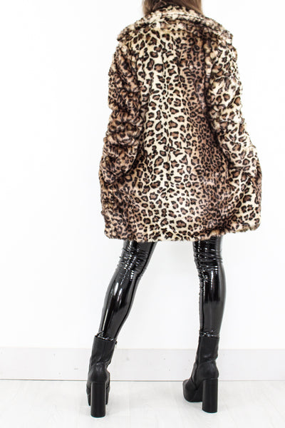 Leopard Faux Fur Jacket - little-lies-uk