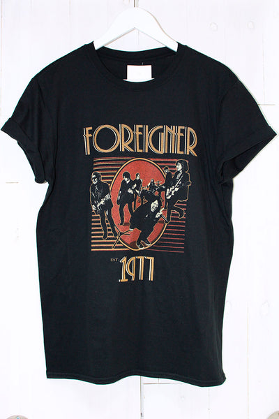 Foreigner '77 Tee - little-lies-uk