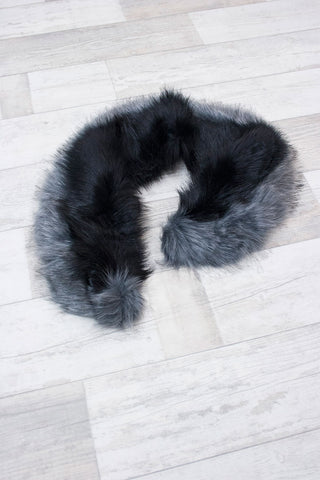 Charcoal Faux Fur Stole - little-lies-uk