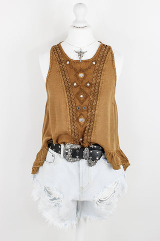 Easy Rider Tan Top