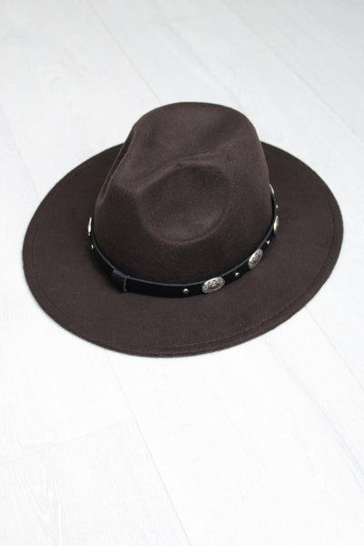 Brown Concho Fedora