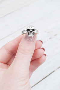 Sterling Silver Skull Ring - little-lies-uk