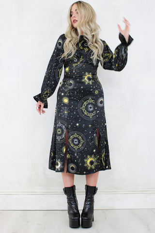 Dark Side Of The Moon Midi Dress