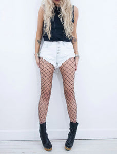 Bleach Denim Shorts - little-lies-uk