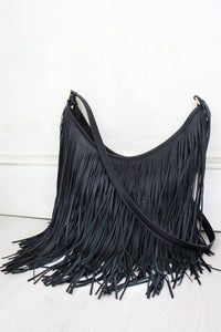 Rhiannon Black Fringed Bag