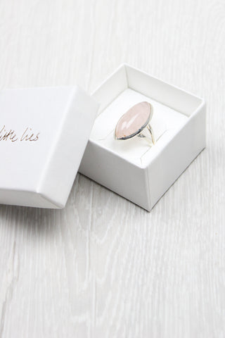 Rose Quartz Marquise Ring