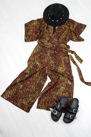 Rebel Rock Me Leopard Jumpsuit