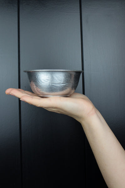Etched Silver Bowl