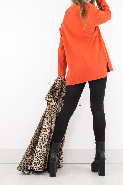 Orange Slouch Knit - little-lies-uk