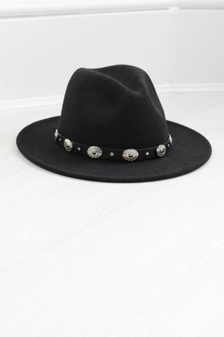 Black Concho Fedora - little-lies-uk