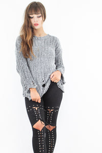 Hole In My Soul Distressed Knit