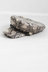 Snakeskin Baker Boy Hat - little-lies-uk