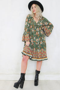 Cinnamon Girl Smock Dress