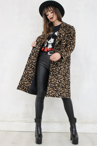 Groove A Little Leopard Coat