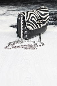 High Voltage Zebra Ponyskin Bag - little-lies-uk