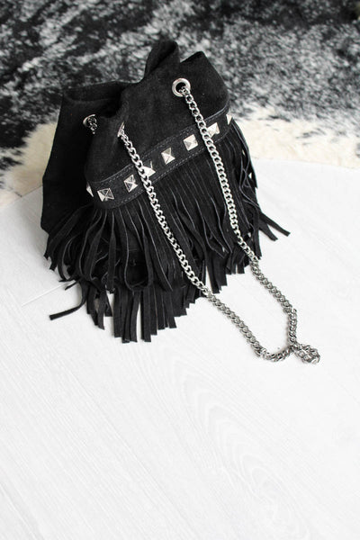 Route 66 Fringed Suede Bag - little-lies-uk