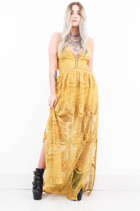 Fields Of Gold Maxi Dress - little-lies-uk