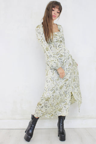 Garden of Eden Cream Maxi Dress