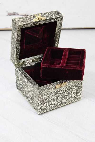 Antique Silver Moroccan Jewellery Box