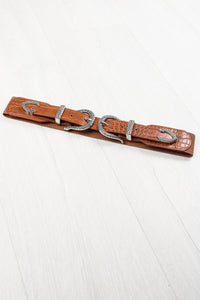 Tan Snake Buckle Belt
