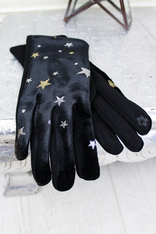 Black Magic Velvet Gloves