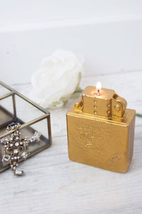 Vintage Bronze Lighter Candle - little-lies-uk