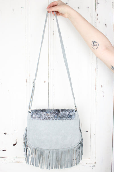 Viper Suede Bag Grey