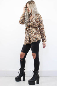 Secrets Silky Leopard Kimono - little-lies-uk