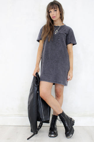 Hell and Back Black T-Shirt Dress