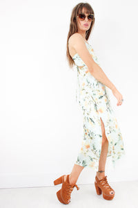 Golden Earth Girl Slip Dress