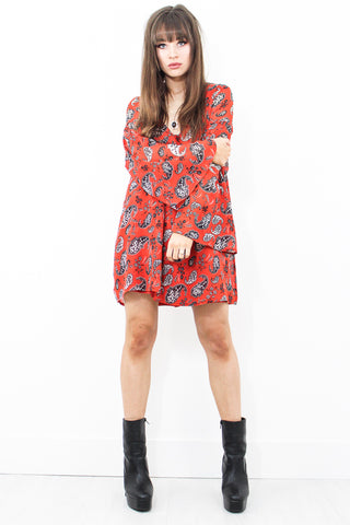 Foxy Lady Paisley Smock Dress
