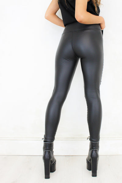 Shadowplay Biker Leather Leggings