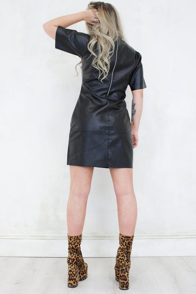 Shock Rock Leather Mini Dress