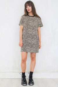 Heaven's On Fire Leopard T-Shirt Dress