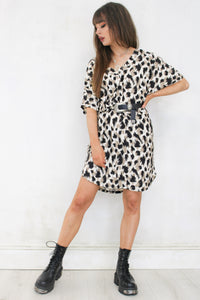 Thunderstruck Leopard T-shirt Dress
